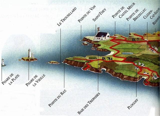 Carte Bretagne Pointe Du Raz.Pointe Du Raz